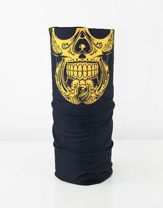 AKSESUAR - Gosh - Yellow Skull Maske Boyunluk Bandana FNT193