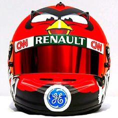 Angry Birds Formula 1 helmet of Caterham's Heikki Kovalainen. #F1