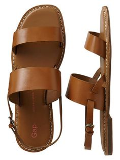 8ae98ceed Gap Two Band Sandals - cognac. Melinda McDonough