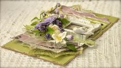 Cathrines hjerte. Card made of papers from Pion.