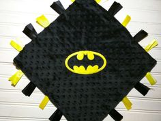 Batman Tag Baby blanket Free Name Personalization 3 by Broider