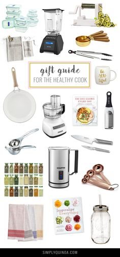 Get ahead of your holiday shopping this year and check out our gift guide for the healthy cook in your life! -- Healthy Cook Gift Guide 2016