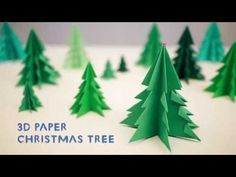 Alison's 3D Paper Christmas Tree Tutorial DIY - YouTube