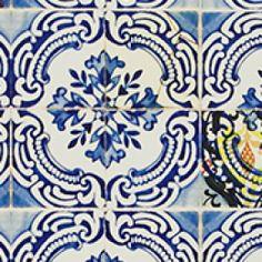 Christian Lacroix behang, Patio cobalt