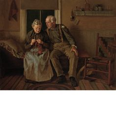 John George Brown American, 1831-1913 Still Courting, 1904.