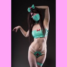 The kawaii asylum/ Model @frankenanda / Photography - Darren flynn photography. all latex, including accessories by#shokushuboutique #latex #latexfashion #fashion #model #alternativemodel #asylum #kawaii