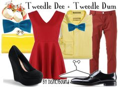 disney bound outfits - Tweedle Dee and Tweedle Dum Adorable couple/best friend outfit