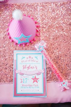 American Girl Inspired Birthday Party invitation. See more over at www.justalittlesparkle.com