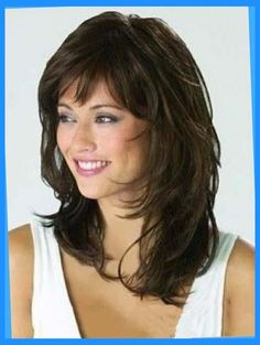 Monofilament Shining Wavy Synthetic Medium Wigs, Medium Length Hair Pieces Monofile g Medium Shag Hairstyles, Hairstyles With Bangs, Trendy Hairstyles, Evening Hairstyles, Hairstyles 2016, Black Hairstyles, Vintage Hairstyles, Medium Hair Styles, Curly Hair Styles