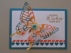 Bright and Beautiful Butterfly by niece - Cards and Paper Crafts at Splitcoaststampers