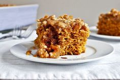 – How Sweet Eats pumpkin coffee cake with brown sugar glaze {I am making this TODAY! Got some pumpkin puree burning a hole in my fridge. Just Desserts, Delicious Desserts, Yummy Food, Fall Desserts, Pumpkin Recipes, Fall Recipes, Holiday Recipes, Pumpkin Coffee Cakes, Pumpkin Cookies