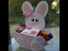 Easter Bunny Treat Box Tutorial - YouTube