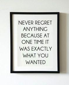 sem arrependimentos!