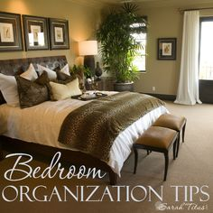 When family or friends come by, we spend our time making sure the living room, kitchen, and bathroom are ship shape, but the bedroom door often gets closed! The bedroom is the last place that gets cleaned and organized. Here's how to change that. Bedroom Organization Tips