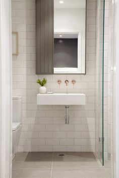 pedestal sink with wall faucet for full powder room Wall Mounted Taps, Wall Mount Faucet, Wall Mounted Bathroom Sinks, Mounted Shelves, Bathroom Vanities, Bad Inspiration, Bathroom Inspiration, Bathroom Ideas, Bathroom Remodeling