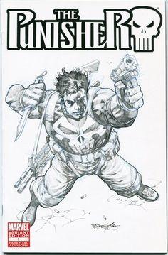 Punisher sketch cover by Stephen Segovia