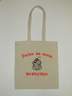 Torba płócienna zakupowa HAFTOWANA w Artello na DaWanda.com