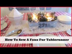 Happy At Home: Sewing a Table Runner from faux fur