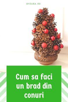 Materiale și mod de realizare a un bradut din conuri de pin #diy #decoratiuni Christmas Tree, Holiday Decor, Diy, Home Decor, Teal Christmas Tree, Decoration Home, Bricolage, Room Decor, Xmas Trees