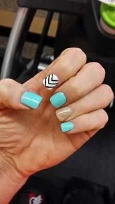 My fun shellac nails  @kaliforndee on Instagram