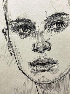 Portrait Sketches, Art Drawings Sketches, Pencil Drawings, Sketches Of Faces, Portrait Au Crayon, Portrait Art, Self Portrait Drawing, Drawing Portraits, Pencil Portrait