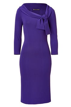 Oh yes my honey says!!    Luxe sheath dress in fine, violet rayon blend.