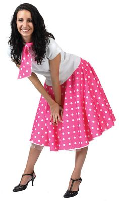 Return to the 1950s and dance the night away looking like one of the pink ladies from Grease with this fantastic 1950s rock n roll fancy dress costume. Description from megafancydress.co.uk. I searched for this on bing.com/images