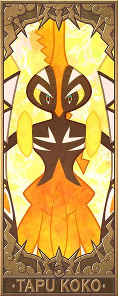 Tapu Koko, Bulu, Fini and Lele. The guardian Pokemon of Alola. (Higher Res version for points on the side ) Different version with their names on it: