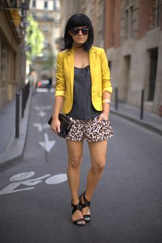 Yellow, black and leopard