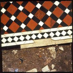 Boyle Family  Study of a Coloured Tile Path with Red, Black and White Tiles, 1988  painted fibreglass  91.4 x 91.4 cm36 x 36 in