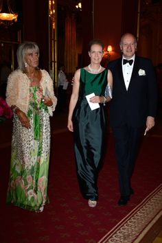 Princess Birgitta and her daughter and son-in-law,Désiréeand Eckbert von Bohlen und Halbach, arrive for the pre-wedding dinner in honor of Princess Madeleine and Chris O'Neill. Princess Birgitta and PrincessDésirée are the aunt and cousin of Princess Madeleine, respectively.