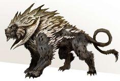Concept art of creature concept for Guild Wars 2 by Kekai Kotaki