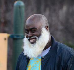 Happiness is Beard Years in White Whiskers! Goatee Beard, Bald With Beard, Bald Black Man, Black Men, Grey Beards, Long Beards, Hairy Men, Bearded Men, Nice Beard