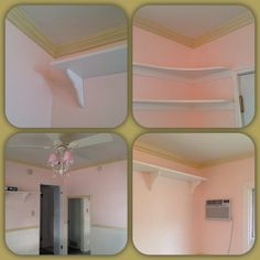 Gold Crown Moulding & new A/C wall unit in
