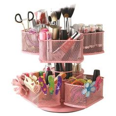 Charlotte Cosmetic Carousel in Pink - $33