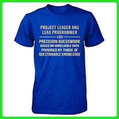 Project Leader And Lead Programmer I Do Precision Guesswork - Unisex Tshirt - Careers professions shirts (*Amazon Partner-Link)