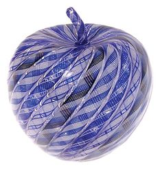 Twist Glass Blue Apple by Mike Hunter