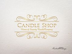 Premade logo Candle shop logo Soap logo Beauty by KristinARTdesign, $15.00