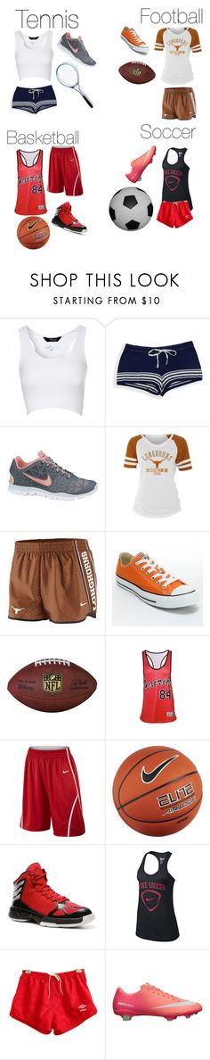 """""""Sport outfits"""" by kristinavukelaj ❤ liked on Polyvore featuring Jane Norman, Sperry, NIKE, Handle, Converse, Sik Silk, adidas and Umbro"""