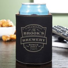 Fashion the touch of an old time pub wherever you go with this Vintage Brewery custom beer koozie.