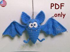 Funny Bat amigurumi crochet pattern by jasminetoys on Etsy