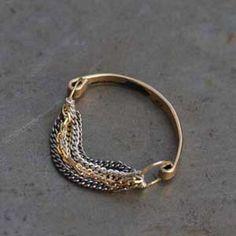 Bague or et argent de Gilbert-Gilbert pour l'Atelier des Bijoux Créateurs.