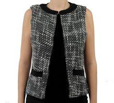 Colete de tweed preto e branco da marca Coleteria ♡ - Coletes femininos e infantis - Coleteria | sempre♡