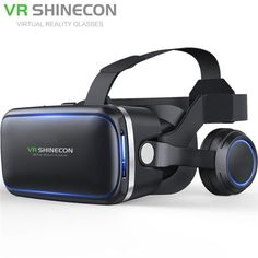 Vritual Reality Shinecon 6.0 Bluetooth Headset VR Glasses Helmet 3D Box