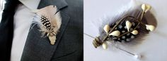 Pomp & Plumage offers a unique twist on traditional boutonnieres.