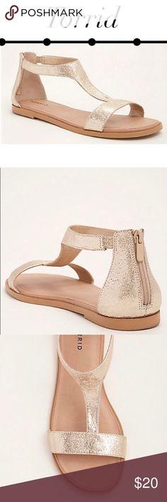 Gladiator T-Strap Metallic Gold Sandals Wide Width NWT Wide Width Never worn ❌ ❌ TRADES 1717602 - B474 torrid Shoes Sandals