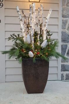 128+ wonderful christmas decorating ideas for magical outdoor spaces 19