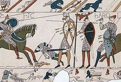 A website about the Norman Invasion and Battle of Hastings in William the Conqueror is Guillaume Le Batard in French. ( Guillaume the Bastard) Medieval World, Medieval Art, Hastings 1066, Norman Knight, Norman Conquest, Ancient World History, Bayeux Tapestry, Art Français, William The Conqueror