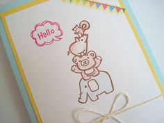Elephant stamp Teddy bear stamp Pig by JapaneseRubberStamps, £12.00