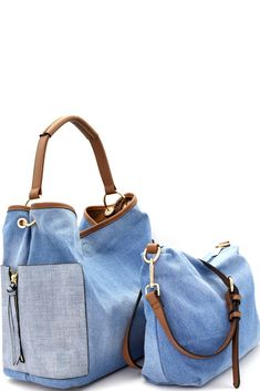 Prada Women's Saffiano Baiadera Striped Galleria Tote Bag Caramel White Denim Handbags, Fashion Handbags, Blue Jean Purses, Sacs Design, Denim Purse, Linen Bag, Simple Bags, Fabric Bags, Cute Bags